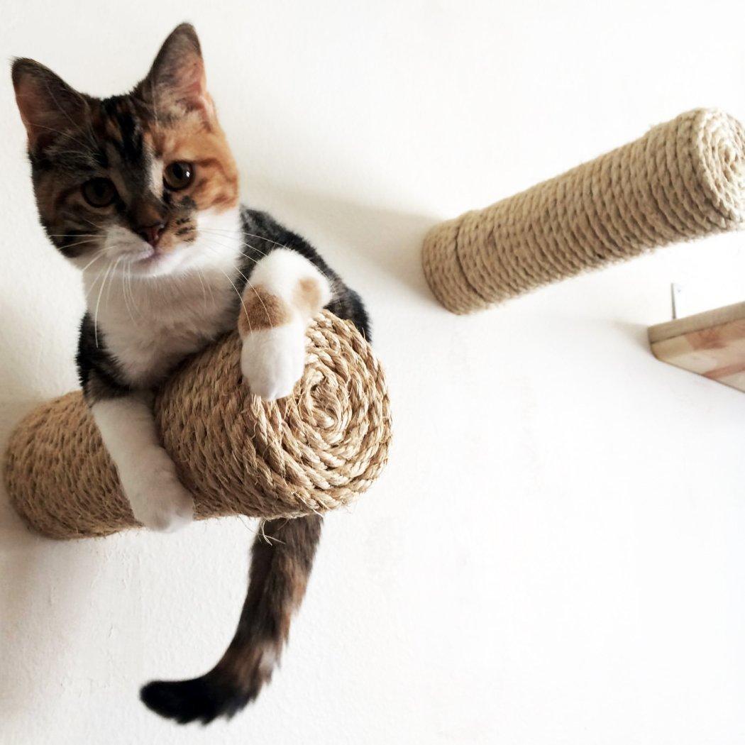Веревка для стачивания кошачьих когтей Можно сделать удобную когтеточку для любимца или обмотать веревку вокруг ножек ст