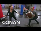 Conan Works Out With Wonder Woman Gal Gadot  — CONAN on TBS