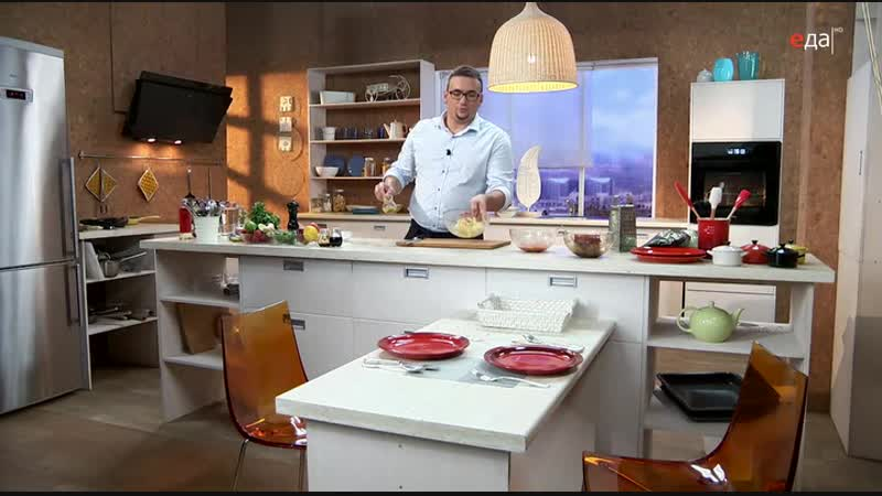 14.Дежурный по кухне. Тальята из тунца с сальсой и салатом