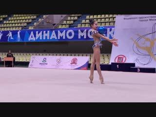 София Погорелова - мяч (финал многоборья) // Первенство Москвы 2019