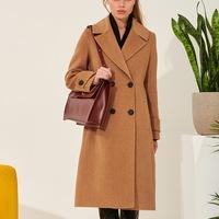 3b96e5a62a9 Двубортное шерстяное пальто классического кроя TOP20 Studio