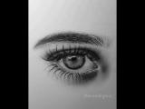 супер реалистичный глаз простым карандашом