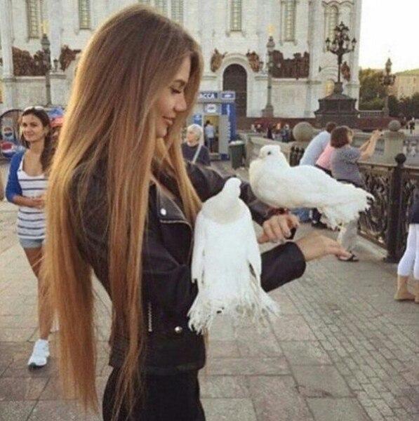 Длиннющие волосы