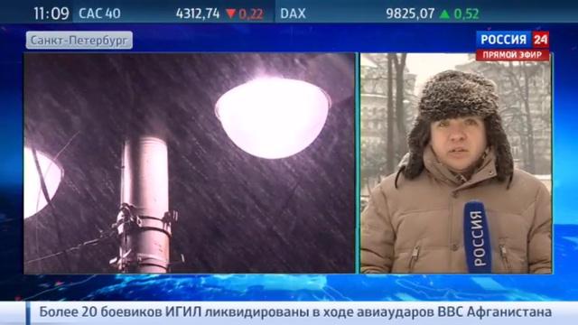 Новости на Россия 24 • Сильный снегопад в Петербурге вызвал пробки на дорогах