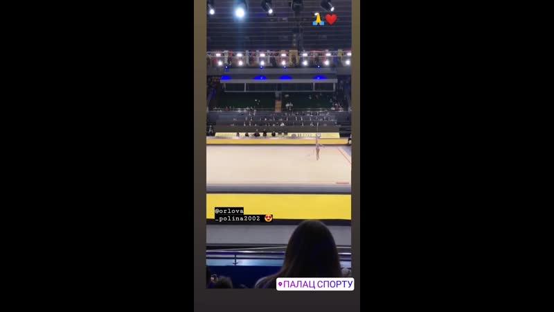 Полина Орлова - Лента (многоборье) Deriugina Cup 2019, Киев