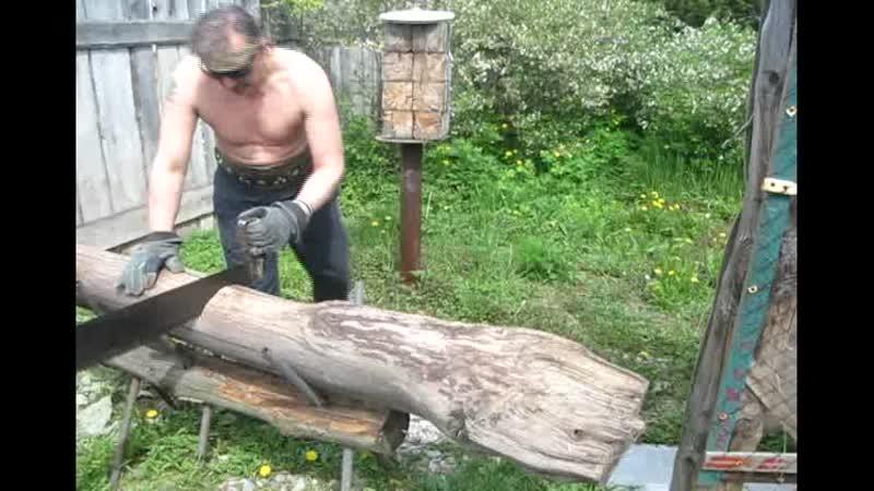 Запил Брёвнышка Походной пилой Дружба 2