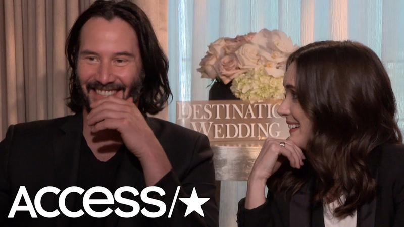 Keanu Reeves Winona Ryder Hilariously Discuss Their Awkward 'Destination Wedding' Sex Scene