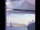 Под Ставрополем инспектор выбрал очень неудачный момент для перехода дороги
