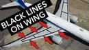 Boeing Facts Black lines on the wings
