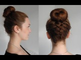 Высокий пучок с голландской косой/ Upside down braid bun