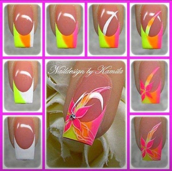 Дизайн ногтей цветы поэтапно