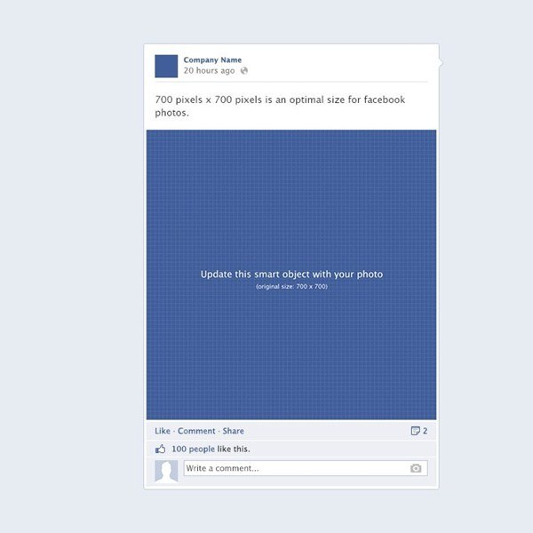 Facebook Post Template Psd - photogram