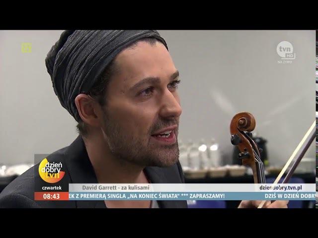 David Garrett Wirtuoz skrzypiec znowu w Polsce! wideo Dzień Dobry TVN