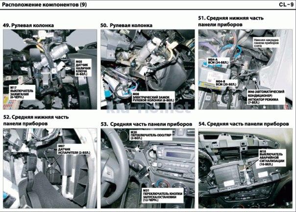 Электрические схемы Kia Rio QB