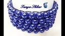 Браслет из Бусин на Резинке Мастер Класс! Браслет Мозаичное Плетение /Bracelet from Busin on Eraser!