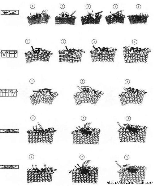 схем в вязании спицами