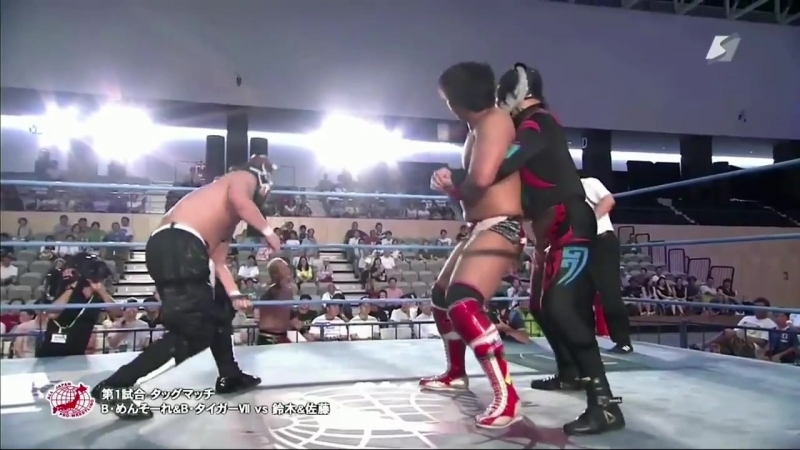 Black Menso~re, Black Tiger 7 vs. Kotaro Suzuki, Keiichi Sato (AJPW - Summer Explosion 2018 - Day 9)