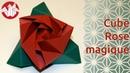 Origami Cube Rose Magique Magic Rose Cube de Valerie Vann Senbazuru