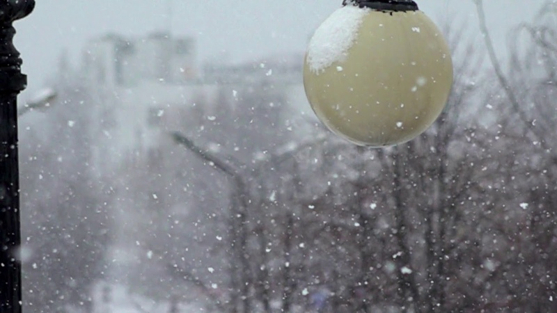 Снегопад , замедление 1000 FPS , режим Super Slow Motion (HD)