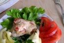 Сельдь, тушеная с овощами и сыром