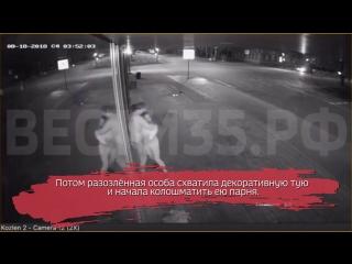 Молодая пара разодралась в центре Вологды: ВИДЕО