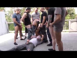 Kira Noir - CumBang [DogFart Network, BlowJob Ebony Group Sex Public & Outdoors Stockings & Fishnets