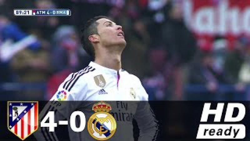 Atletico Madrid vs Real Madrid 4-0 (Liga BBVA) - All Goals Extended Highlights 07/02/2015 HD