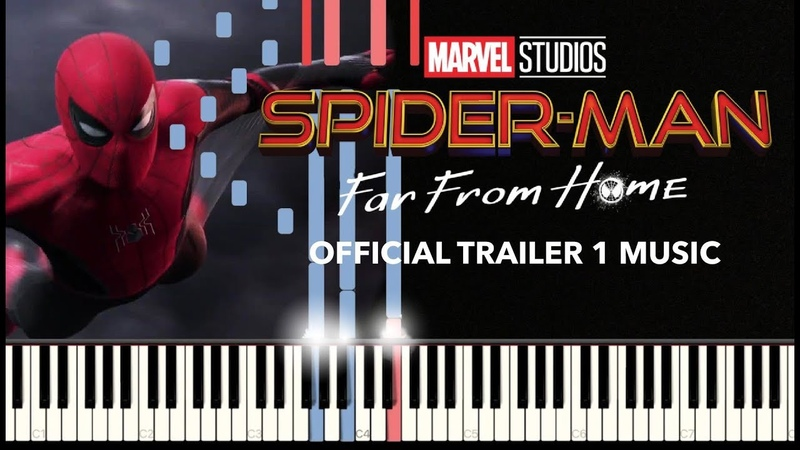 Spider Man Far From Home - Official Trailer 1 Music (Piano) SHEETSSYNTHESIA