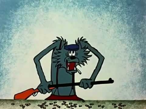 Кадры самого первого выпуска «Ну, погоди» 1969 года. Первый показ серии был 6 мая 1969 года. Сначала режиссер хотел, чтобы волка озвучивал Владимир Высоцкий, но «Союзмультфильм» не утвердил его