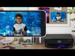 Мобильная печать со смартфона на стену