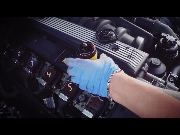 раскоксовка и промывка двигателя BMW димексидом