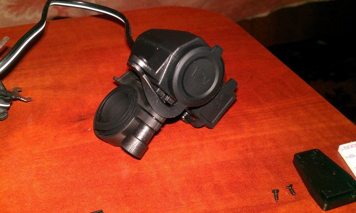 Купить универсальные зарядное для мотоцикла Motorcycle 12V 5V USB Cigarette Lighter Power Port Integration Outlet Socket