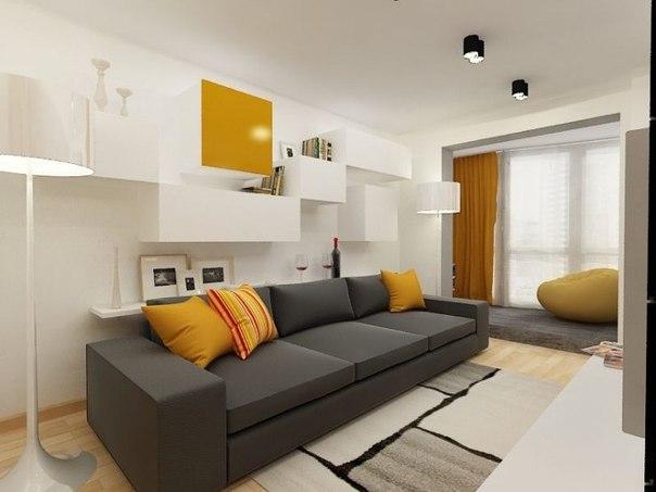 Дизайн интерьера молодежной квартиры для молодой семьи, семейной пары