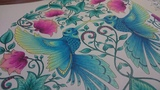 Hummingbirds - Secret Garden Johanna Basford - colored with Prismacolor