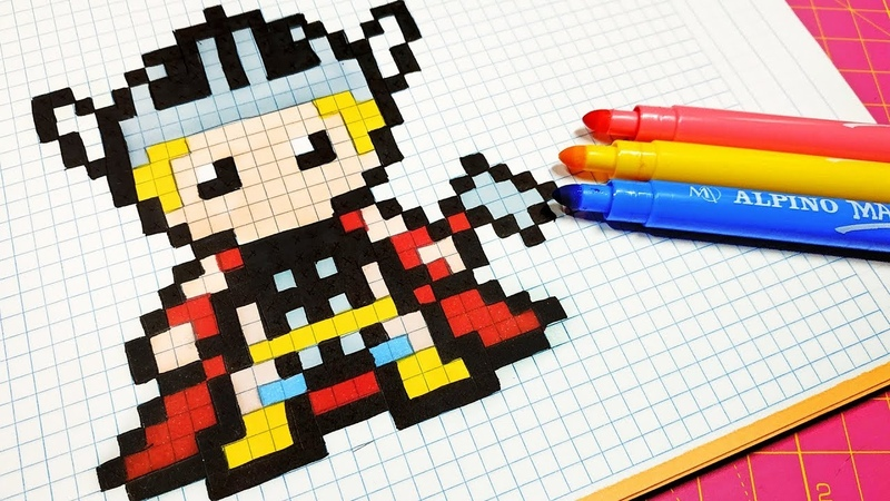 Handmade Pixel Art - How To Draw Thor pixelart