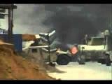 Горящий  Абрамс в Ираке.