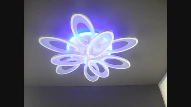 Светодиодная LED люстра Прометей P5 Y1054 9 WT 9*10W