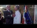Ален Делон вручает Орден Почётного Легиона знаменитому шеф повару Жан Мишелю Лорану 28 05 2018г