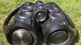Bass test - 2x JBL Boombox &amp JBL Charge 3