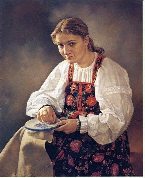 вышивание крестиком очаги