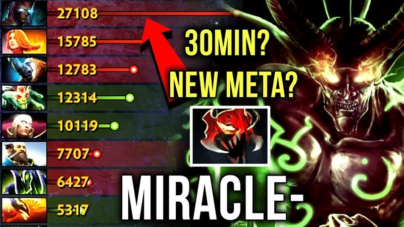 Miracle TB Farmin' Machine 30Min 27k Networth Mask of Madness Build Dota 2