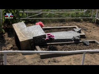 Акт вандализма на кладбище в Енакиево -специальный репортаж.