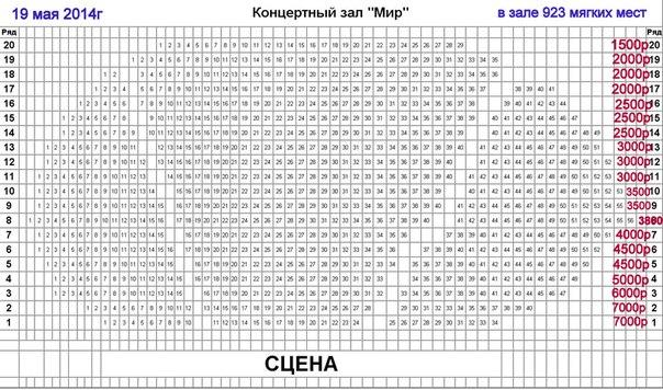 """концертный зал """"МИР"""""""