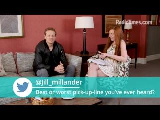 Outlanders sam heughan faces quick-fire fan questions