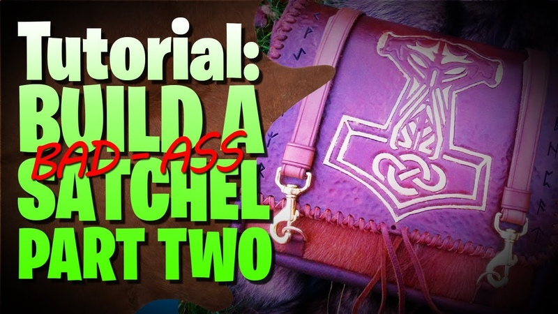 Build A Leather Satchel Strap Work Runes 🔰 Part Two 🔰 leathercraft handmade (Tutorial)