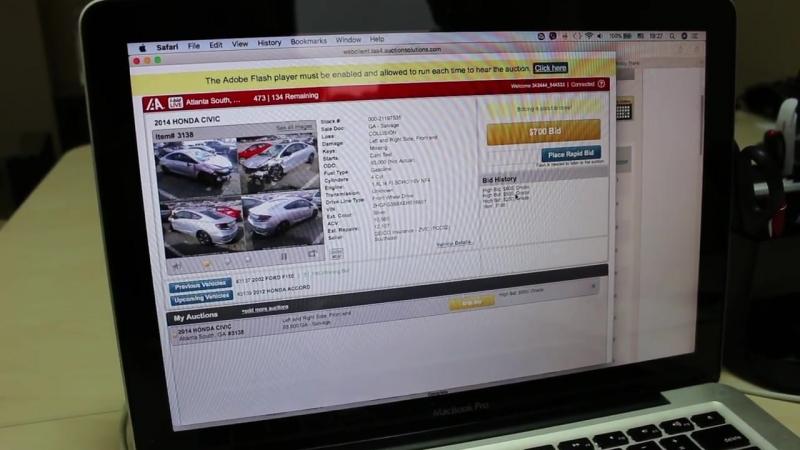 Торги за Honda Civic из реалити-шоу Вписаться в 7500 долларов