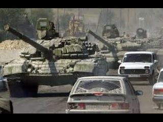 Краснодон  Колонна танков Народного Ополчения вошла в город 04 07 14 | Новости Новое Украина Россия