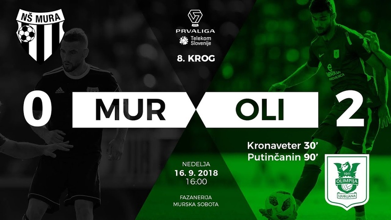 8.krog: Mura - Olimpija 0:2 ; Prva liga Telekom Slovenije 2018/2019