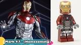 All Lego Iron Man Minifigures (20122017) - Movie vs Lego