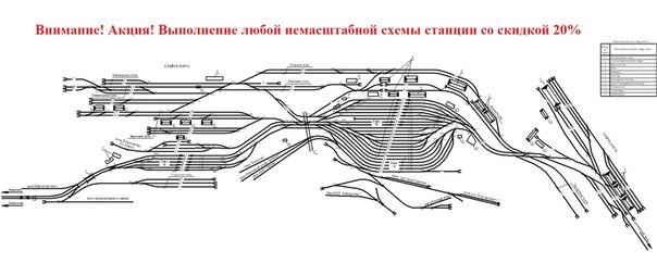 немасштабная схема станции